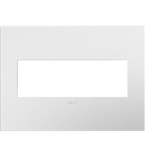 adorne® Gloss White Three-Gang Screwless Wall Plate