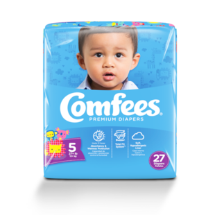CMF-5 - Comfees Baby Diapers, Size 5, 27 count