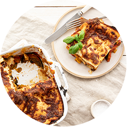 Eggplant & Roasted Pumpkin Lasagne