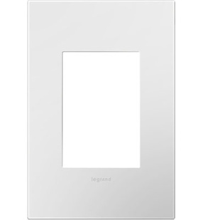 adorne® Gloss White One-Gang-Plus Screwless Wall Plate