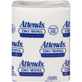 Attends Dry Wipes