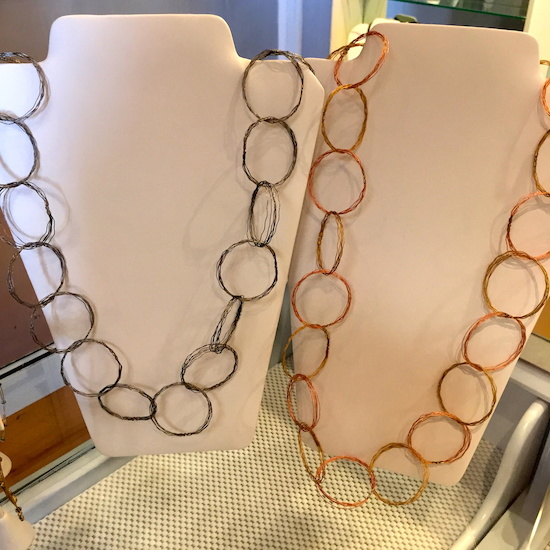 Circles necklace, $139 each at Chocolat.