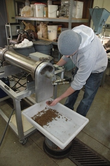 Making experimental feed at the Northwest Fisheries Science Center.jpg