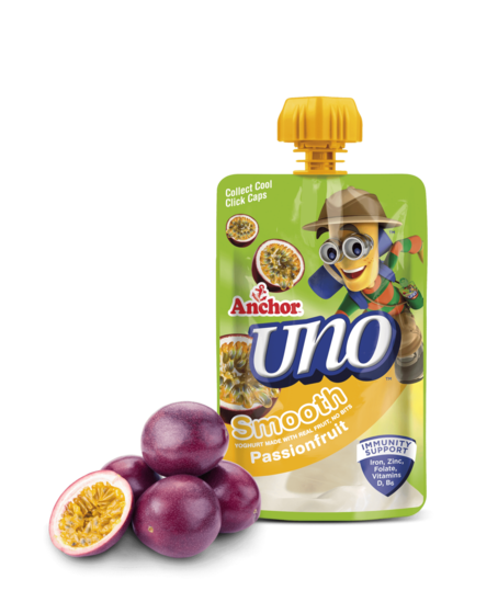 Anchor Uno Passionfruit Yoghurt Pouch 100g