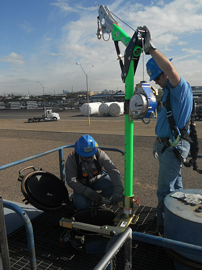 Confined space rescue equipment safety