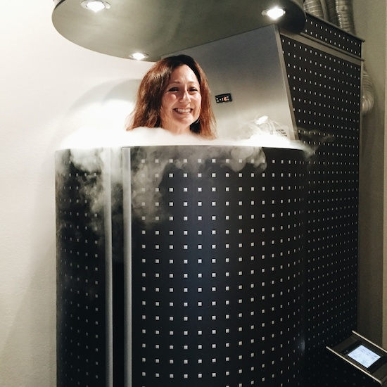 Our own Micki Martin tries out a session in the cryo chamber at Flow Cryotheraphy, $50 per individual session or $120 for three.