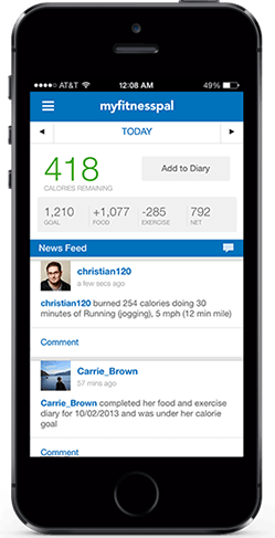 The My Fitness Pal app is a great way to keep tabs on calories in and calories out.