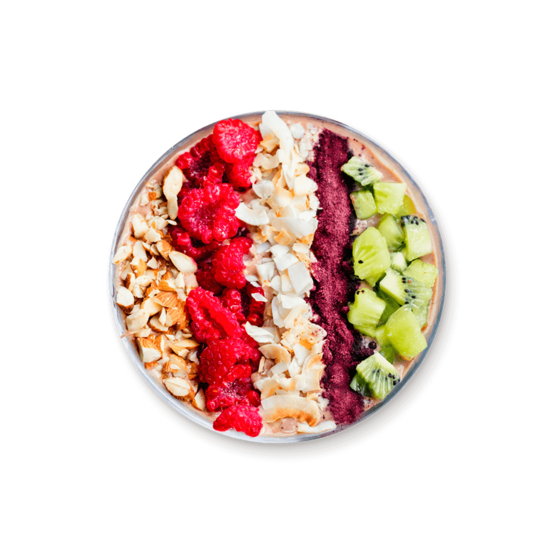 Bowl de frutas y yoghurt