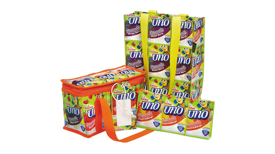 Recycling – Uno pouches into chairs, luggage tags and pencil cases