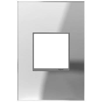 adorne® Mirror One-Gang Screwless Wall Plate