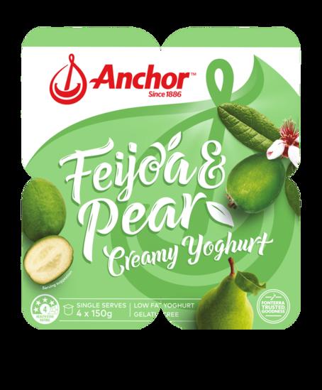 Anchor Feijoa Pear Yoghurt 4 x 150g pack