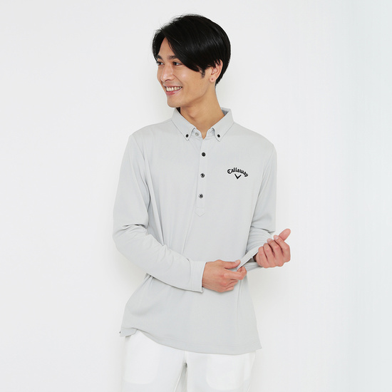 CALLAWAY  汗染み抑制カノコB.D長袖シャツ (MENS)