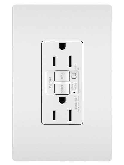 radiant® 15A  Tamper-Resistant Self-Test GFCI Outlet with Audible Alarm