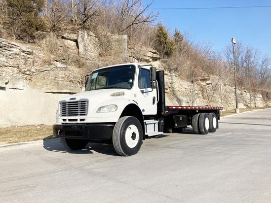 2013 Freightliner M2106 6x4 Flatbed W/Forklift Mount Flatbed W/Forklift Package