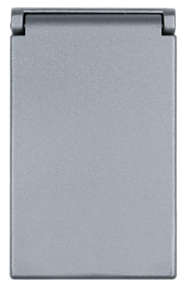 One Gang Heavy Cast Aluminum Cover Decorator/GFCI Vertical, Gray