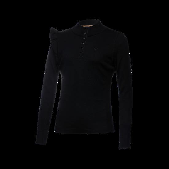 플레어 포인트 반집 여성 스웨터