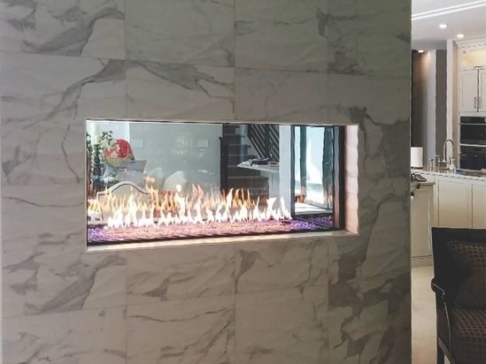 Foundation See Through Gas Fireplace, See Through Gas Fireplace Ideas
