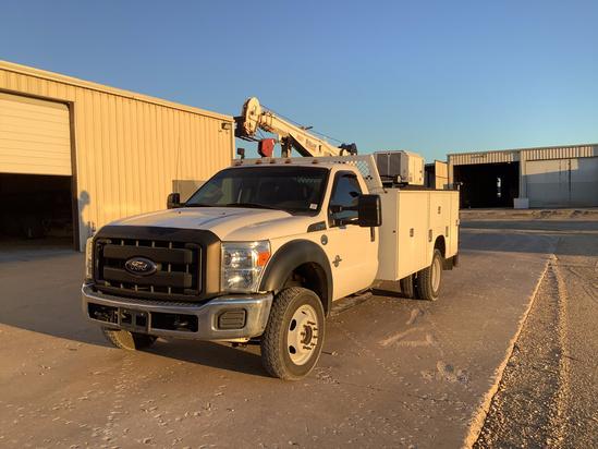 2015 Ford F550 4x4 ServiceTruck+Crane