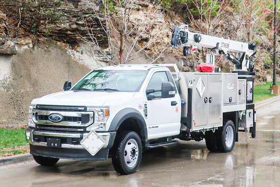 Load King Voyager P-12 (LK6022) ServiceTruck+Crane on 2020 Ford F550 4x4