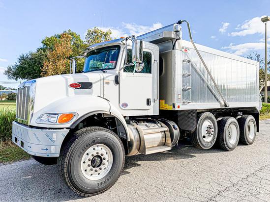 2020 Peterbilt 348 8x4 OX BODIES 16' Aluminum Vertex Dump Truck
