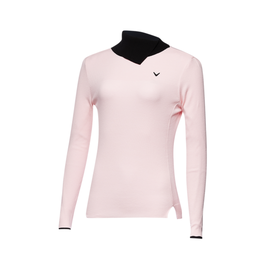 넥 디자인 하이넥 여성 스웨터