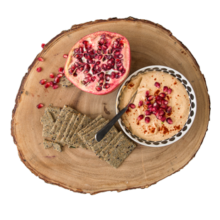 Tahini & Smoked Paprika Dip with Pomegranate