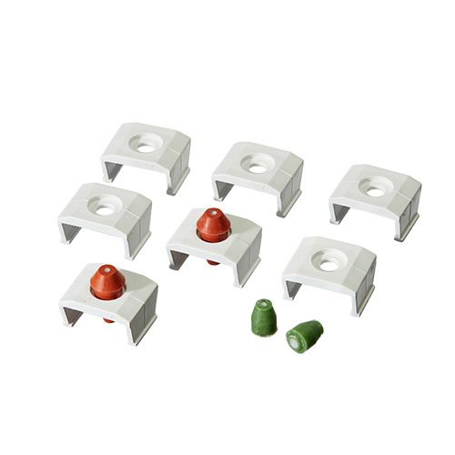 Cartridge Plug & Clip Kit, Plugged product photo Front View L