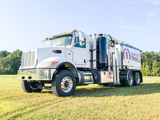 2019 Peterbilt 348 6x4 Aquatech B10-1450-18 Hydrovac Truck