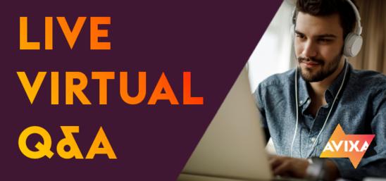 Live Virtual Q&A Banner | AVIXA