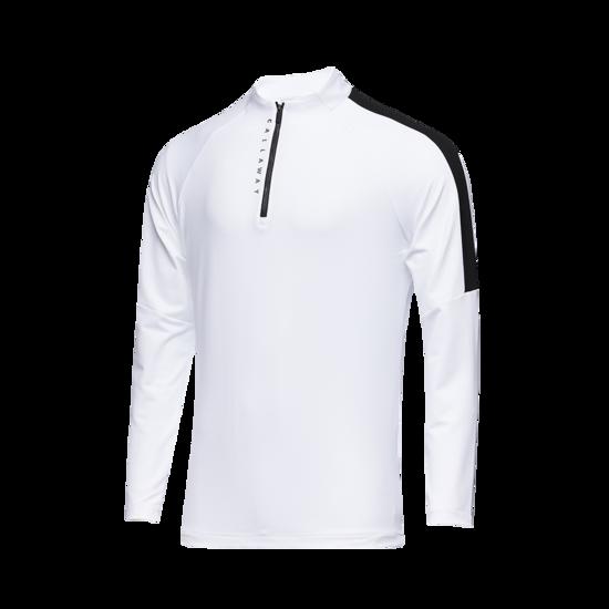 배색 포인트 반짚 남성 티셔츠