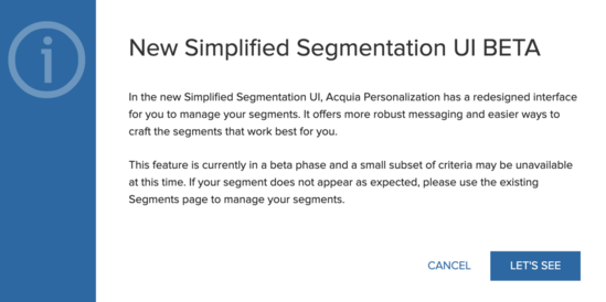 Segmentation-modal