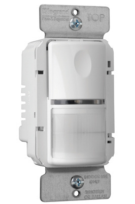 PlugTail® Commercial Passive Infrared (PIR) Wall Switch Sensor, White