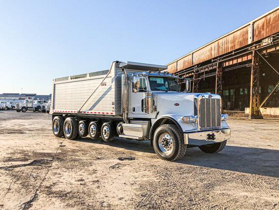 2020 Peterbilt 389 12x4 Kruz Inc Ravens 20' Aluminum Double Wall Dump Truck