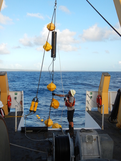 HARP being recovered onboard the NOAA Ship
