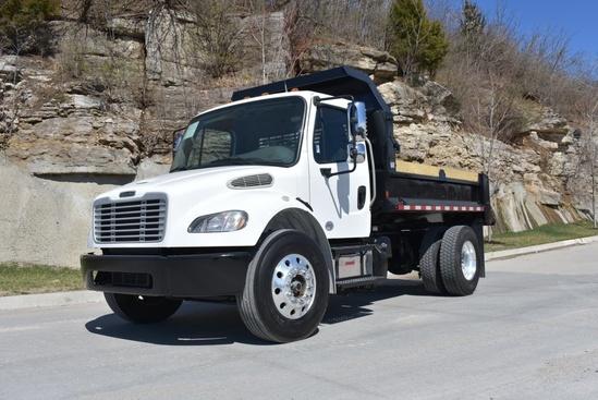 2015 Freightliner M2106 4x2 Brandon Contractor Body Dump Truck