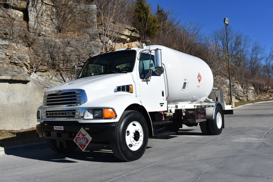 Trinity Containers 3200/80 Bulk Propane Delivery on 2007 Sterling Acterra 4x2