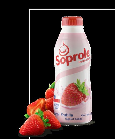 Soprole Yoghurt sabor Frutilla botella 1L