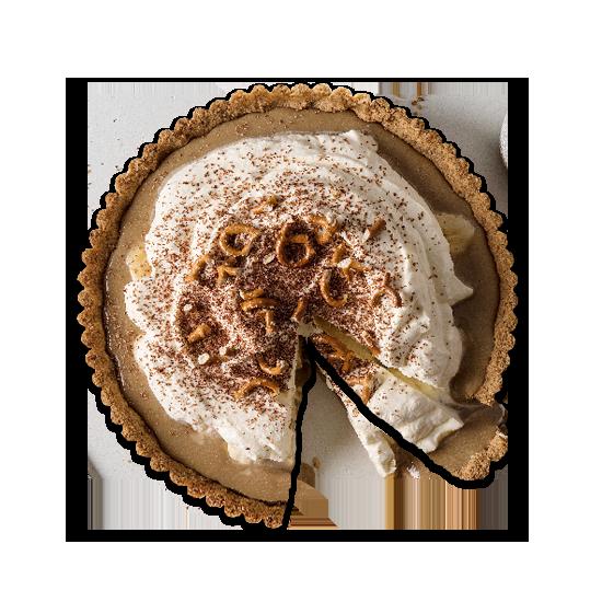 Coffee & Pretzel Crumb Banoffee Pie Recipe