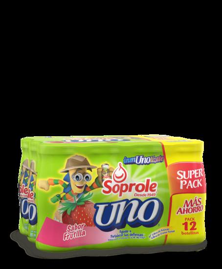 Soprole Uno sabor frutilla pack 12