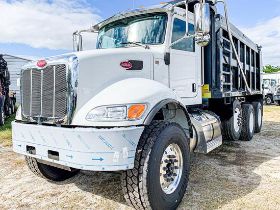 2020 Peterbilt 348 8x4 OX BODIES 16' Maverick Dump Truck