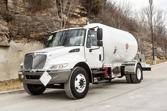 Trinity Containers 3499/80 Bulk Propane Delivery on 2003 International 4300 4x2