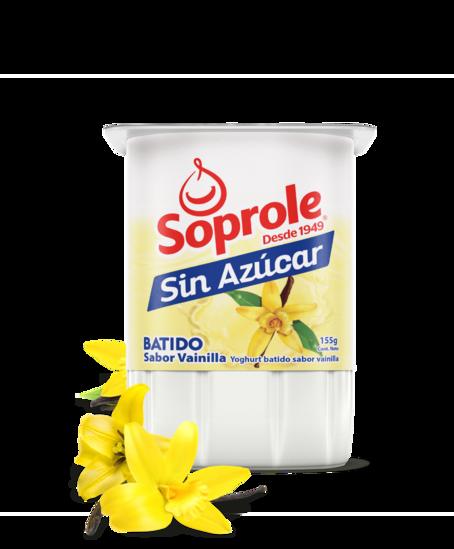 Soprole Yoghurt Batido sin azúcar sabor vainilla 155