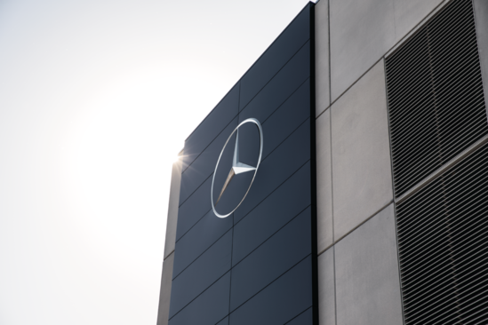 Mercedes-Benz logoed building