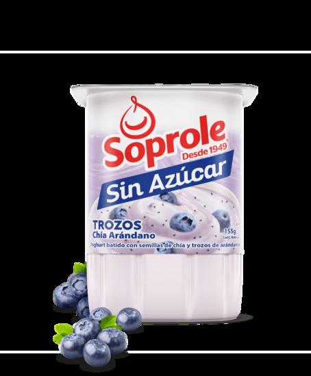 Soprole Yoghurt sin azúcar Trozos chia-arandano 155