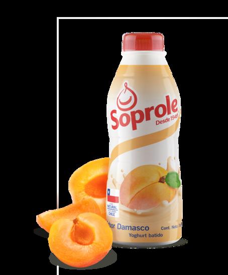 Soprole Yoghurt sabor damasco botella 1L