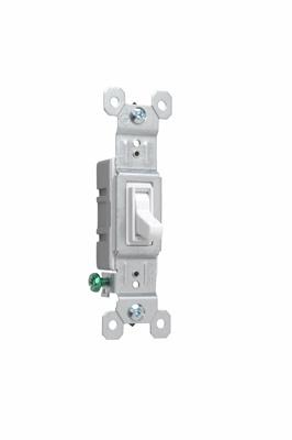 NAFTA-Compliant TradeMaster Grounding Toggle Switch, White