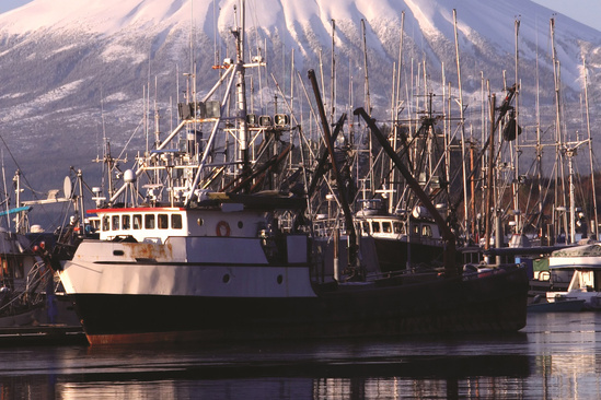 Boat on water in Sitka, Alaska