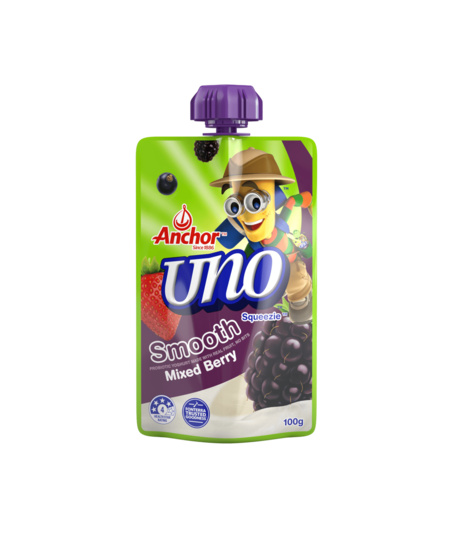Anchor Uno Mixed Berry Yoghurt Pouch 100g