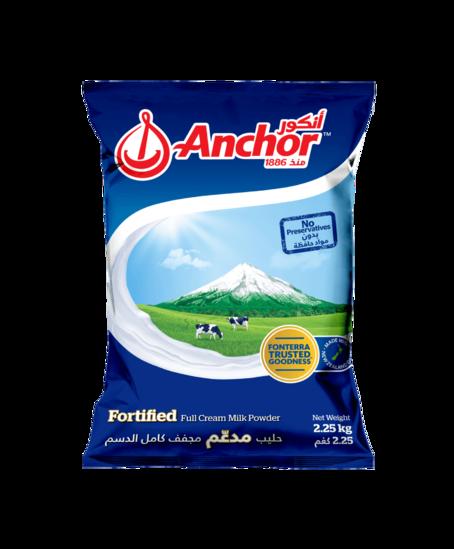 Anchor Fortified Full Cream Milk Powder Bag
