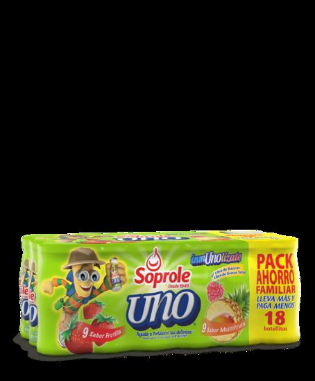 Soprole uno sabor bisabor pack 18